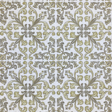 Vintage Gothic Wallpaper Grey and Green 2