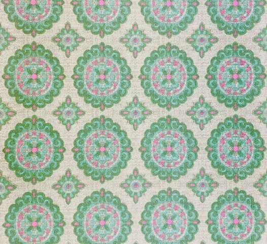 Vintage Green and Pink Geometric Wallpaper 1