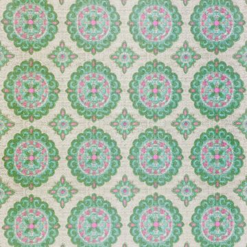 Vintage Green and Pink Geometric Wallpaper 2