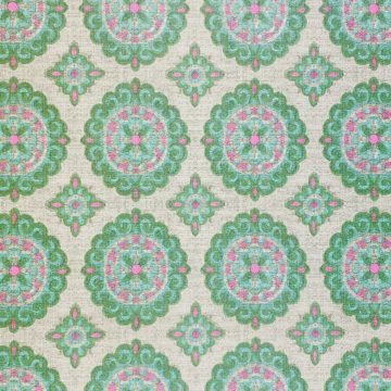 Vintage Green and Pink Geometric Wallpaper 4