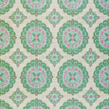 Vintage Green and Pink Geometric Wallpaper 5