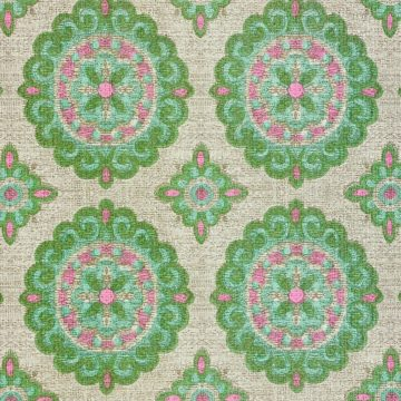 Vintage Green and Pink Geometric Wallpaper 6