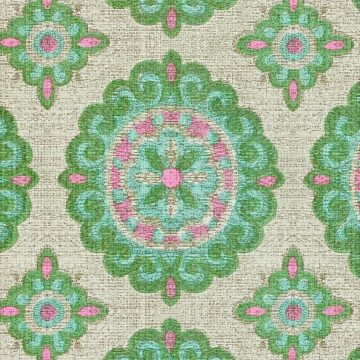 Vintage Green and Pink Geometric Wallpaper 9