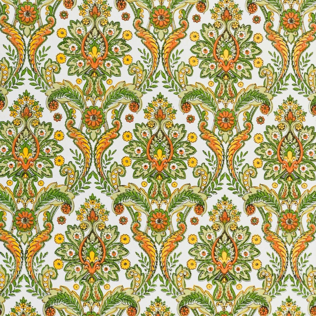 Colorful baroque wallpaper