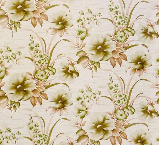Floral Green and Brown Wallpaper2