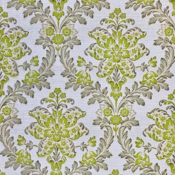 Vintage green floral wallpaper