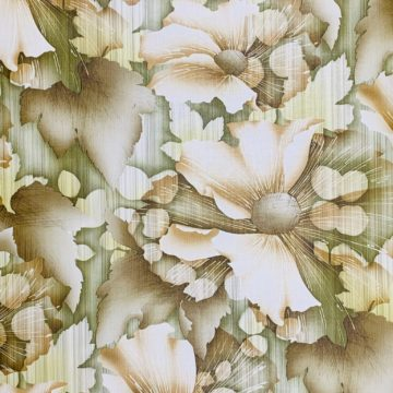 Vintage green floral wallpaper 2