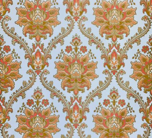 Vintage Modern Baroque Wallpaper