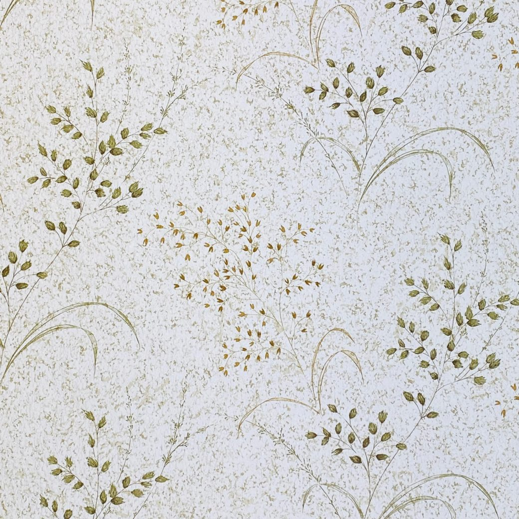 Vintage Nature Floral Wallpaper Green and Brown 4