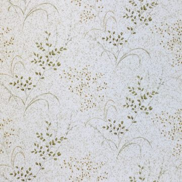 Vintage Nature Floral Wallpaper Green and Brown 1