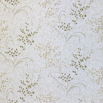Vintage Nature Floral Wallpaper Green and Brown 2