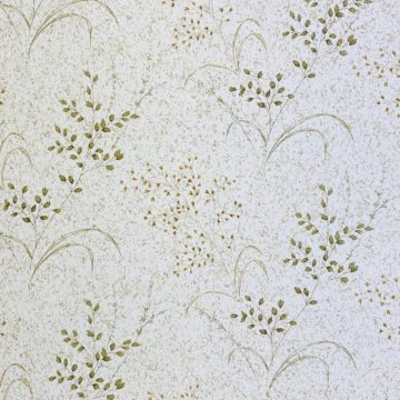 Vintage Nature Floral Wallpaper Green and Brown 3