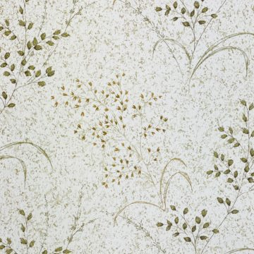 Vintage Nature Floral Wallpaper Green and Brown 5