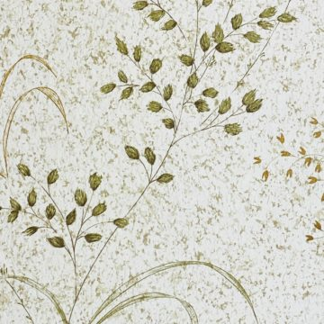 Vintage Nature Floral Wallpaper Green and Brown 8