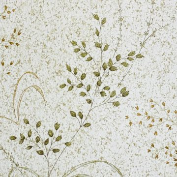 Vintage Nature Floral Wallpaper Green and Brown 9