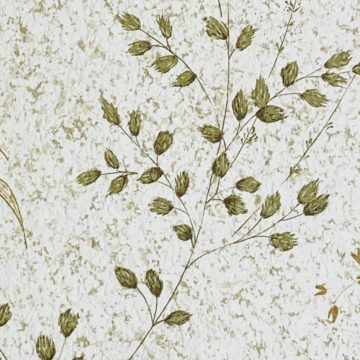 Vintage Nature Floral Wallpaper Green and Brown 10