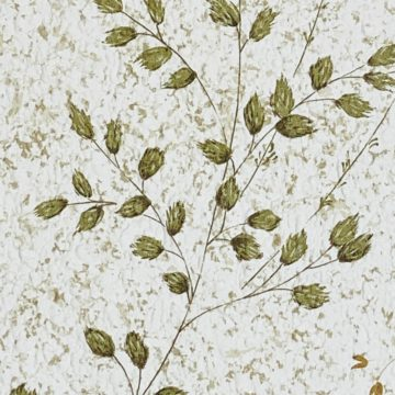 Vintage Nature Floral Wallpaper Green and Brown 11