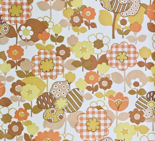 Vintage retro flower power wallpaper 4