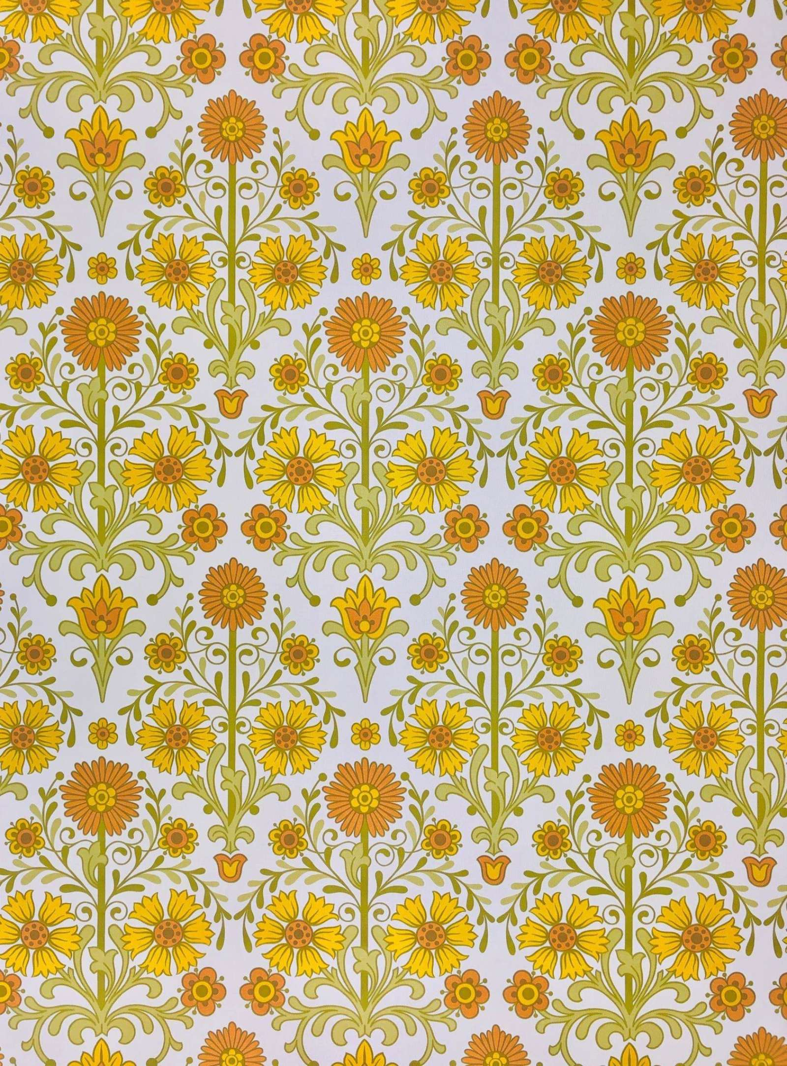 Vintage Wallpapers Online Shop Vintage Orange Floral Wallpaper