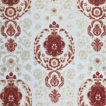 Vintage Ornament Wallpaper Red and Gold 3