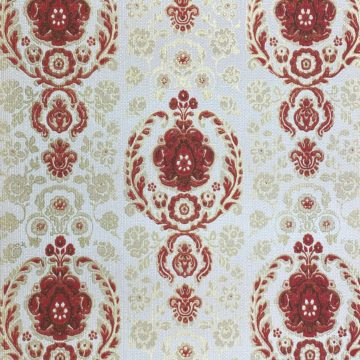 Vintage Ornament Wallpaper Red and Gold 5