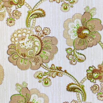 Vintage Paisley Floral Wallpaper Brown and Green 6
