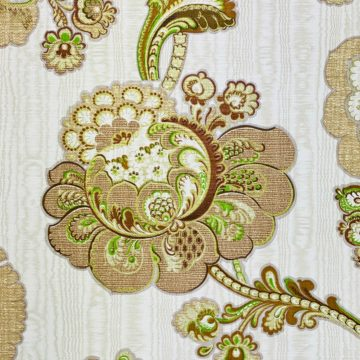 Vintage Paisley Floral Wallpaper Brown and Green 8