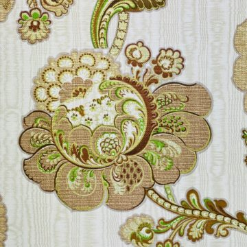 Vintage Paisley Floral Wallpaper Brown and Green 9