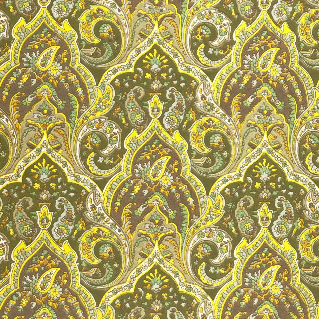 Vintage paisley wallpaper 2