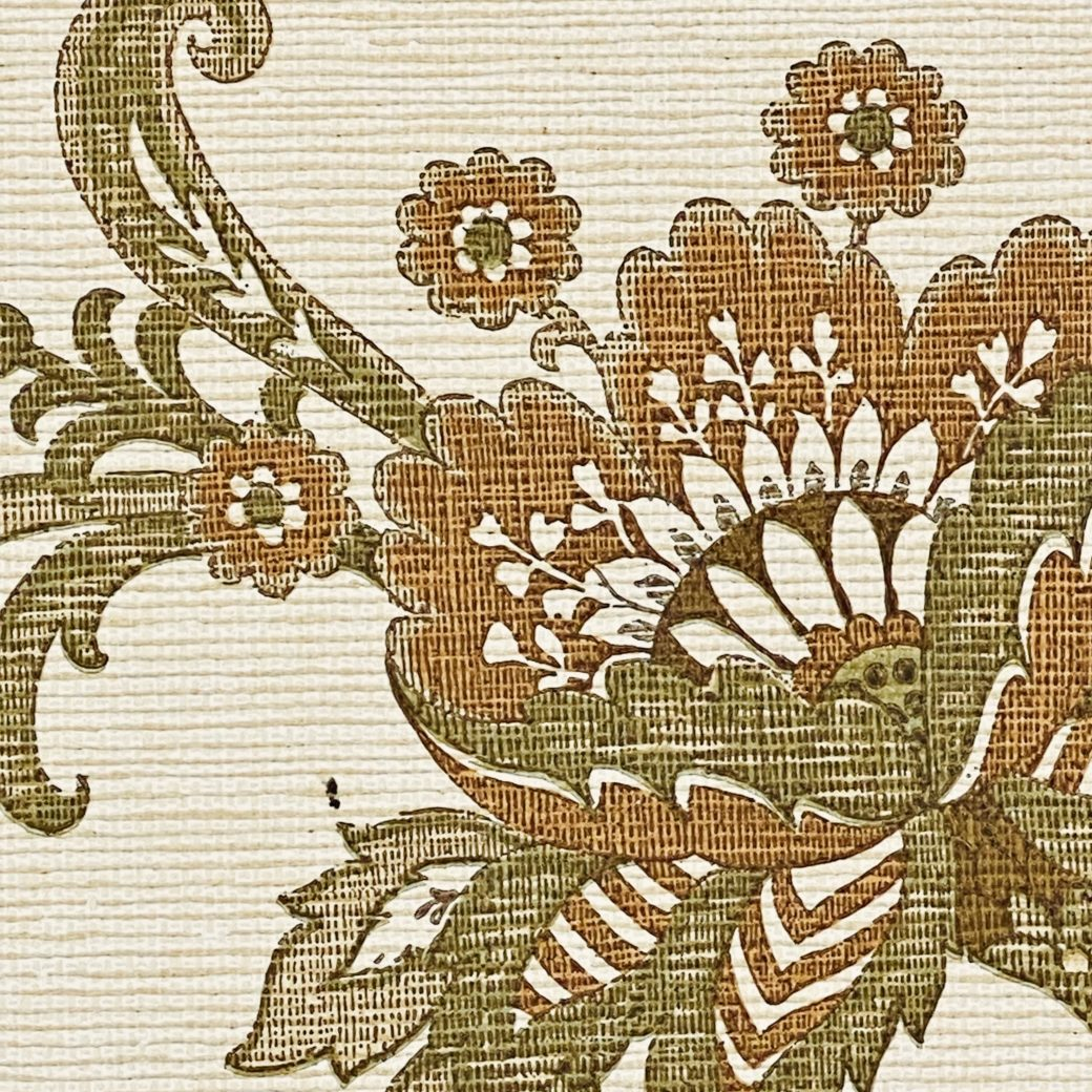 Vintage Paisley Wallpaper Brown and Green 8