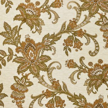 Vintage Paisley Wallpaper Brown and Green 3