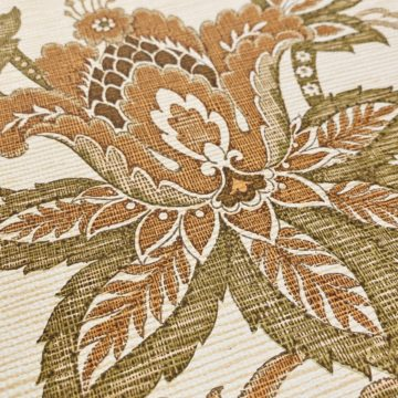 Vintage Paisley Wallpaper Brown and Green 9