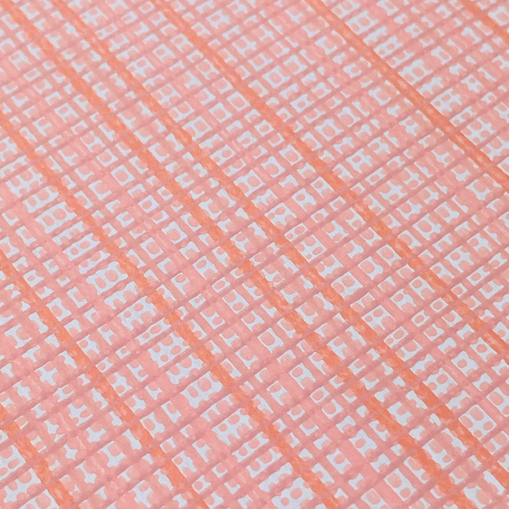 Vintage Pink Checkered Wallpaper 8