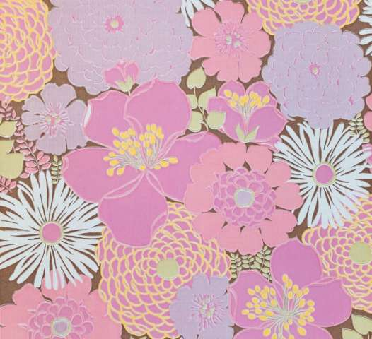 Vintage Pink Floral Wallpaper Large Pattern1
