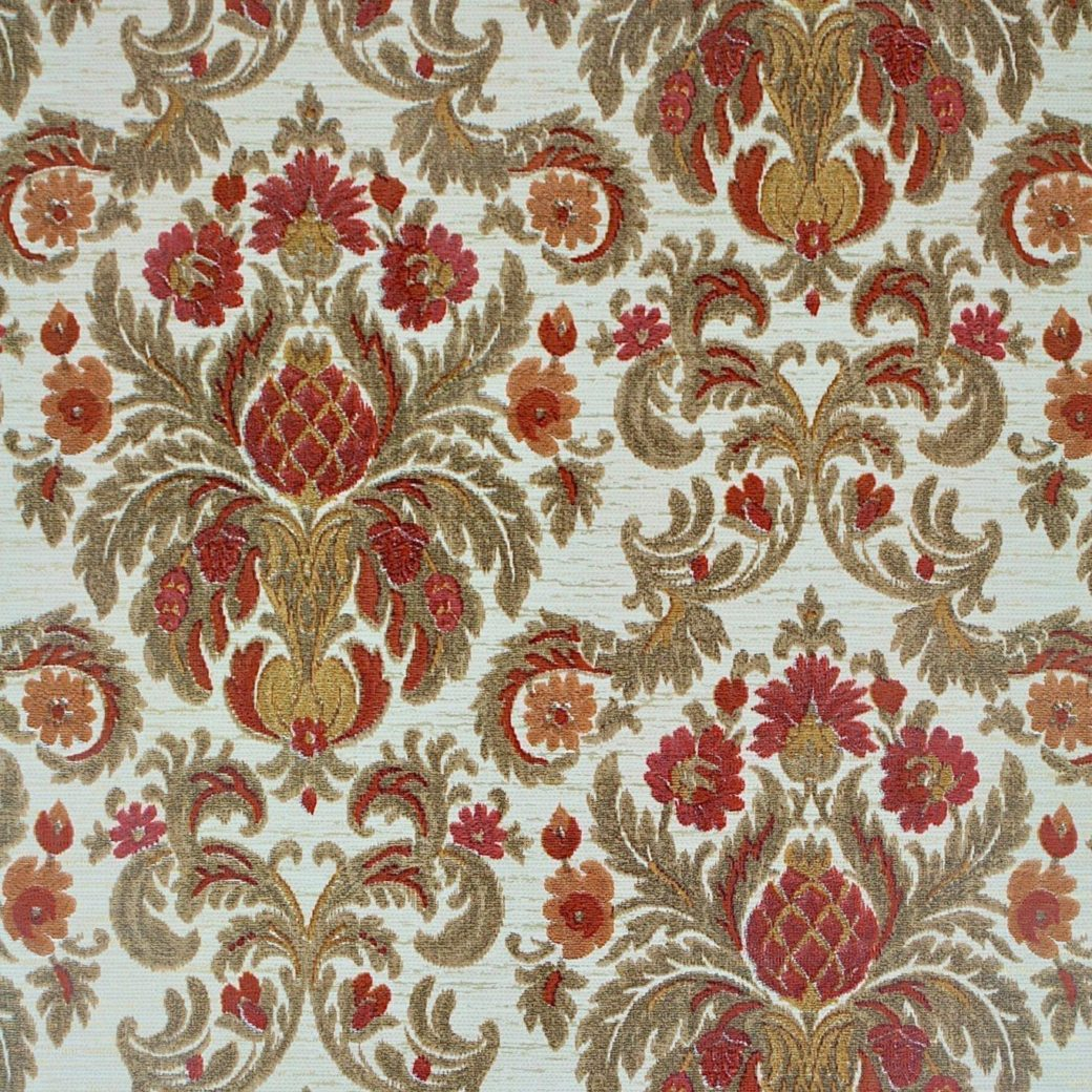 Red Baroque Wallpaper
