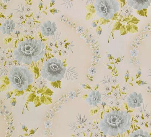Vintage retro floral wallpaper 1 2