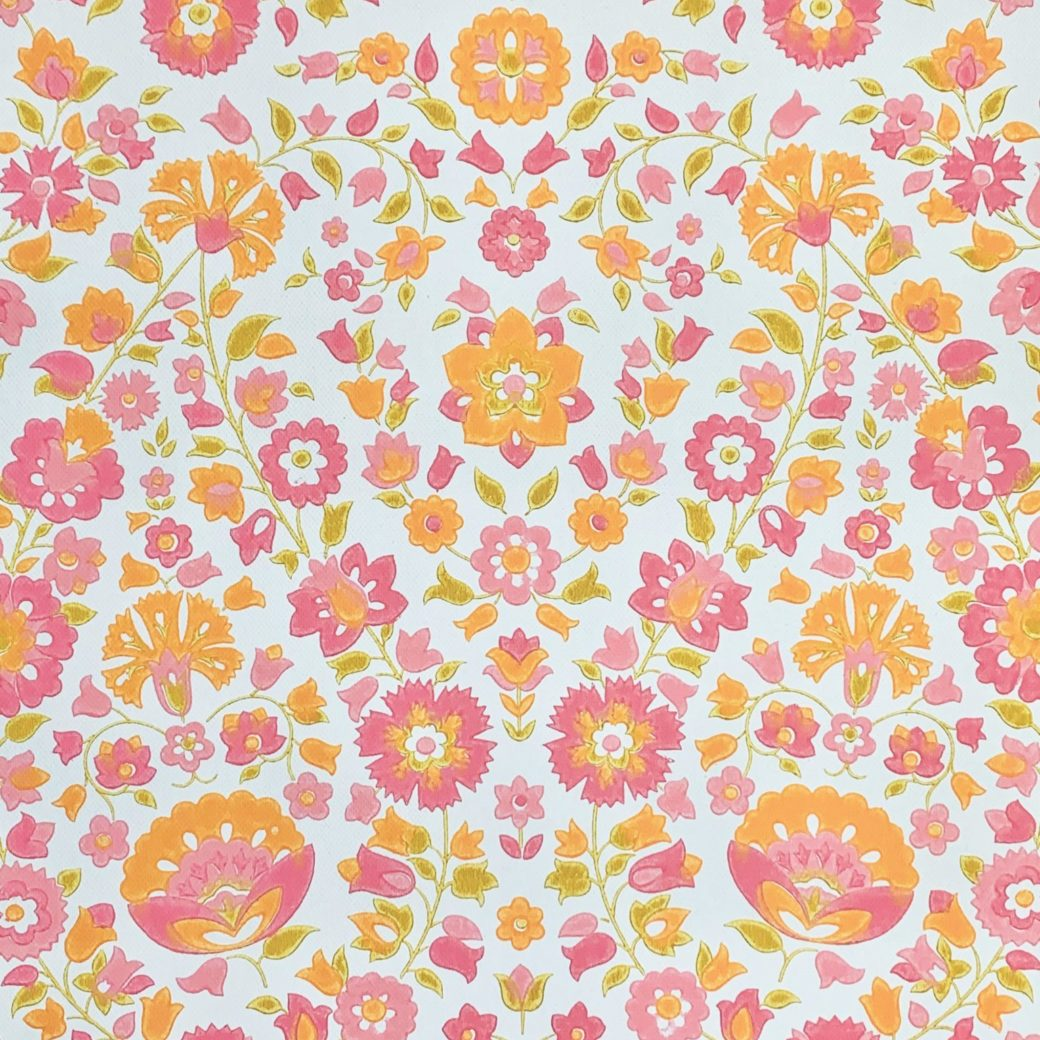 Vintage retro floral wallpaper 2
