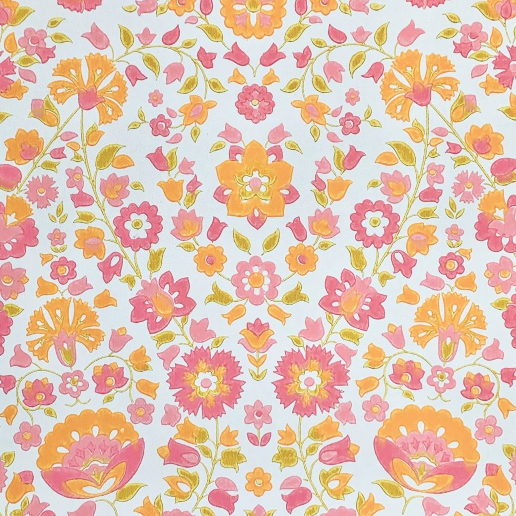 Vintage retro floral wallpaper 3