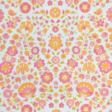 Vintage retro floral wallpaper 1