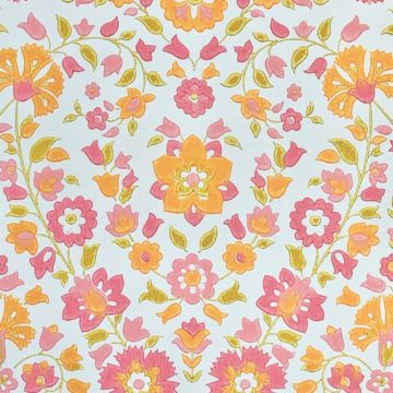 Vintage retro floral wallpaper 4