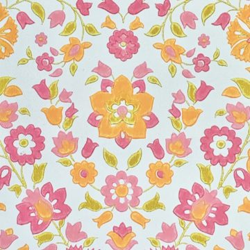 Vintage retro floral wallpaper 5