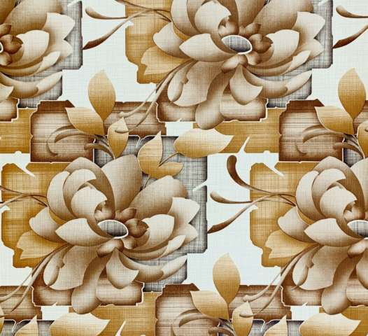 Vintage retro floral wallpaper 6