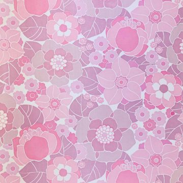 Vintage Retro Floral Wallpaper Pink and Purple 2