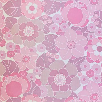 Vintage Retro Floral Wallpaper Pink and Purple 3