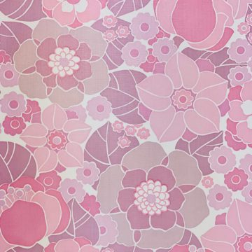 Vintage Retro Floral Wallpaper Pink and Purple 4