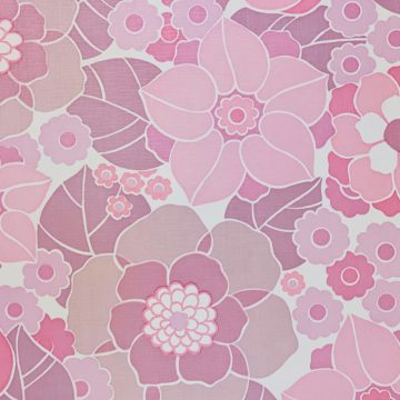 Vintage Retro Floral Wallpaper Pink and Purple 5
