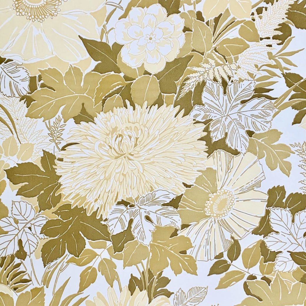 Vintage retro flower wallpaper 2