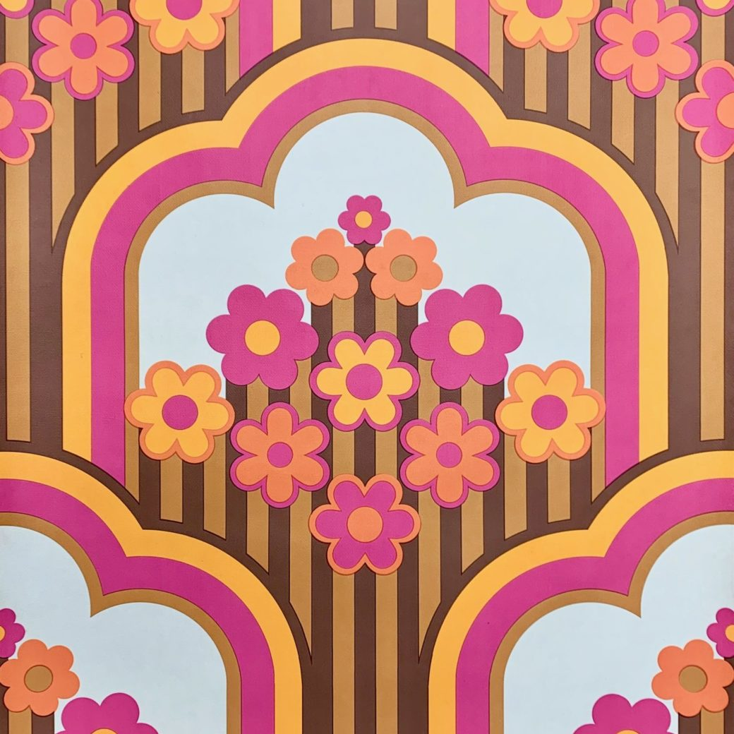 Vintage retro funky wallpaper