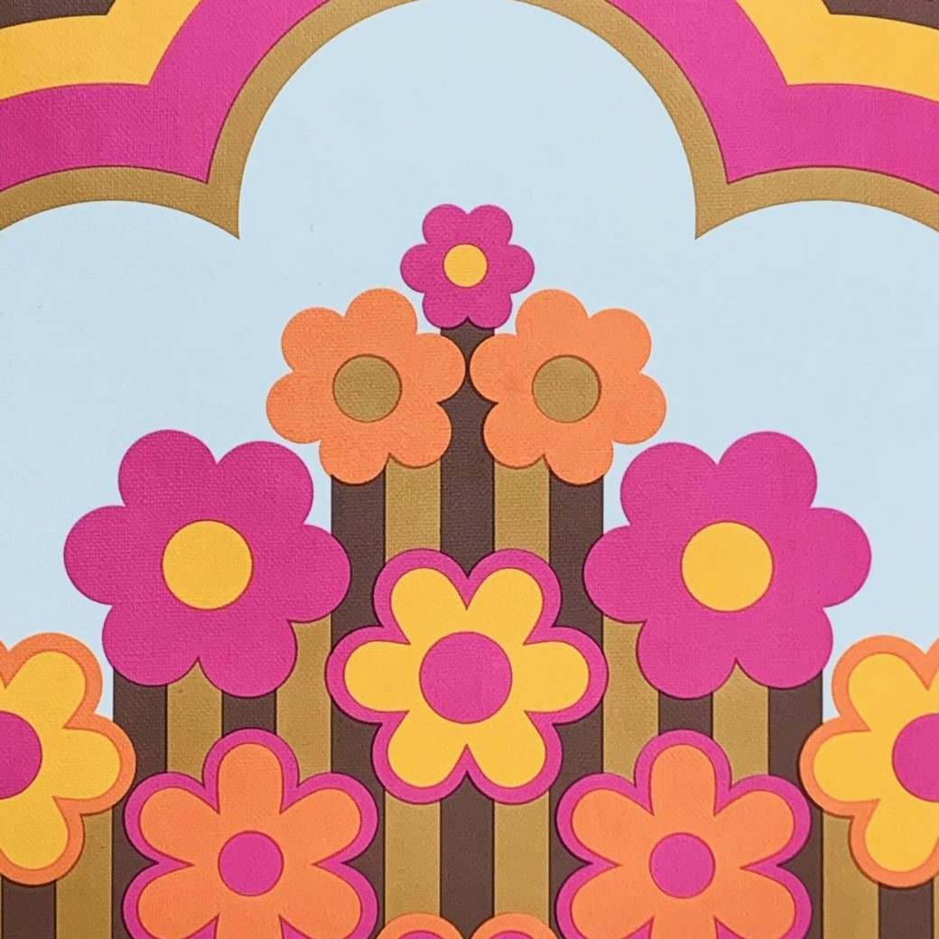 Vintage retro funky wallpaper 3