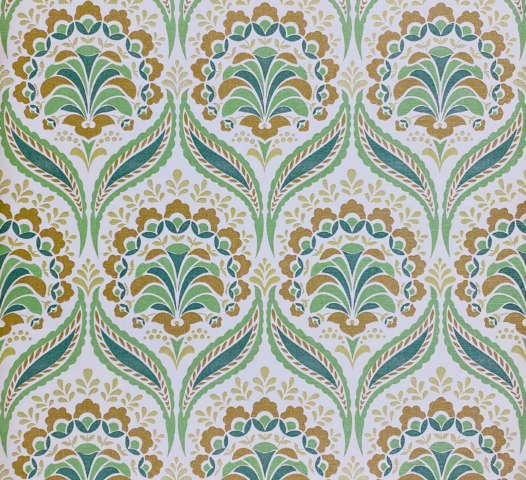 Vintage Retro Geometric Wallpaper Green